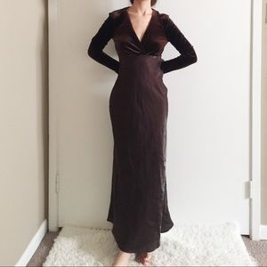 LA BELLE Fashion Inc Velvet Maxi Dress.-G5.